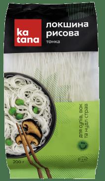 тонкая рисовая лапша katana