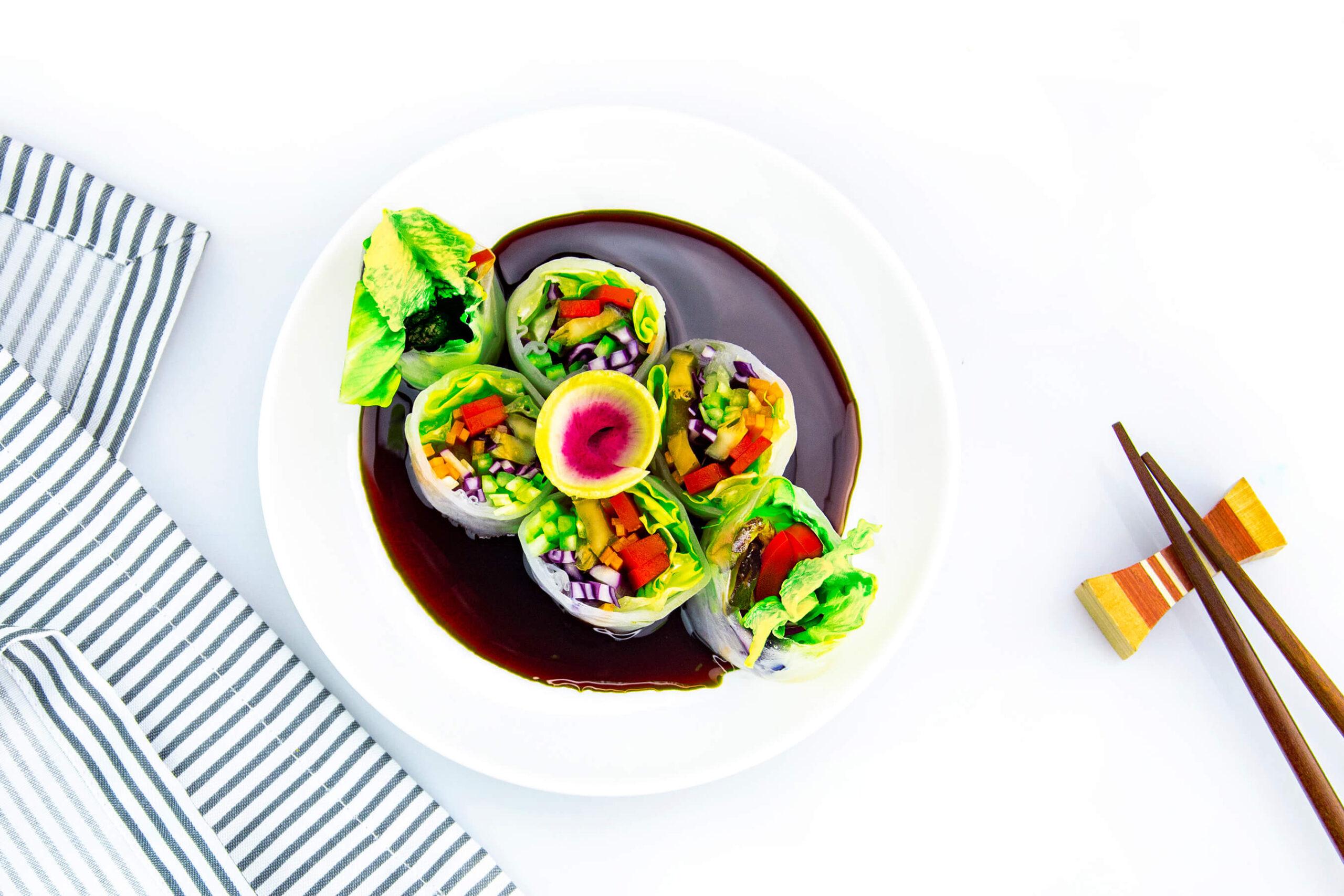 Спрінг-роли з овочами в рисовому папері
