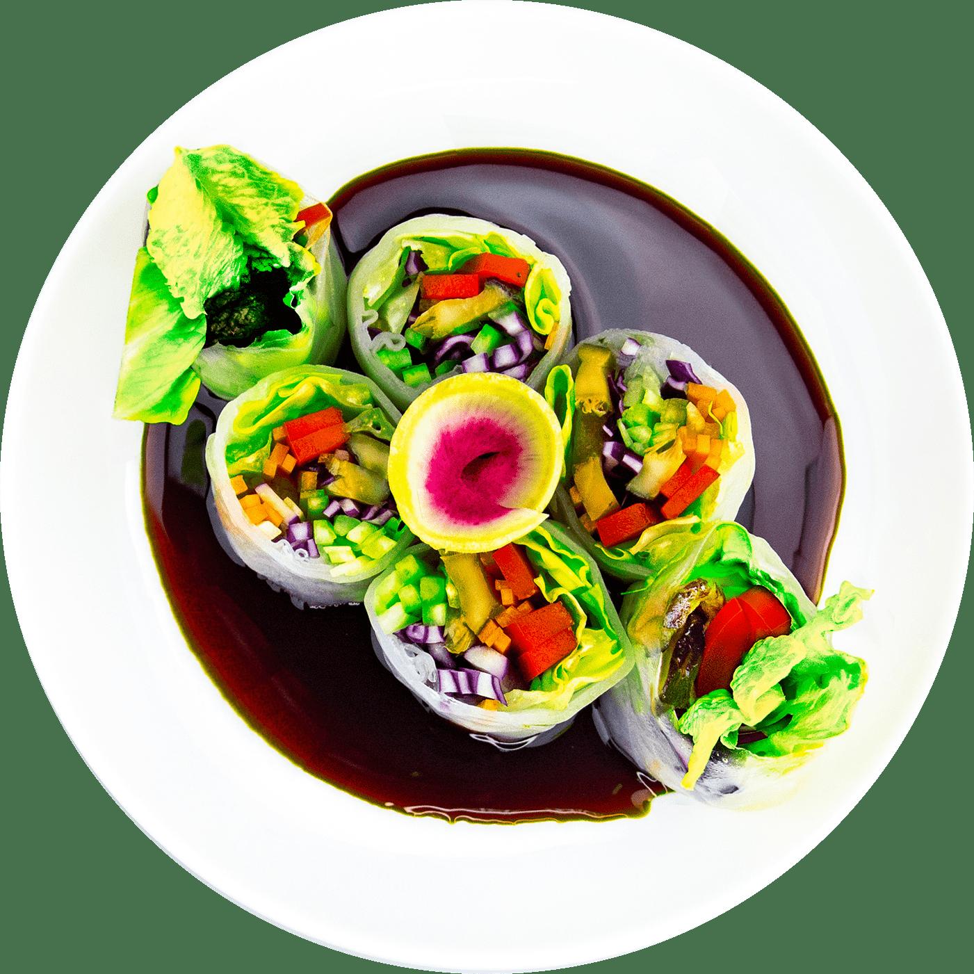Рецепт спринг-роллов с овощами в рисовой бумаге
