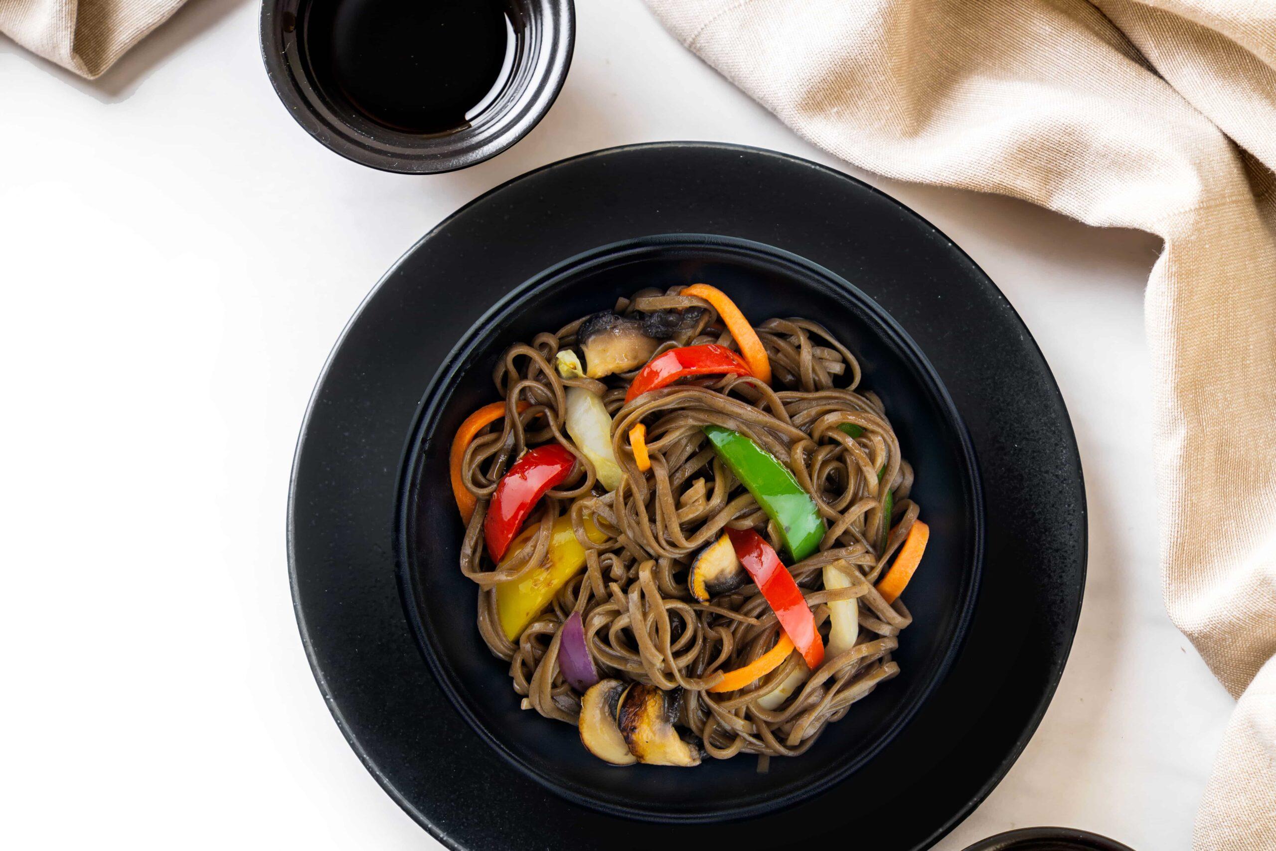 Рецепт собы с овощами