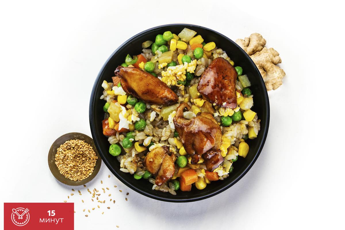 Рецепт жареного риса с курицей от Katana