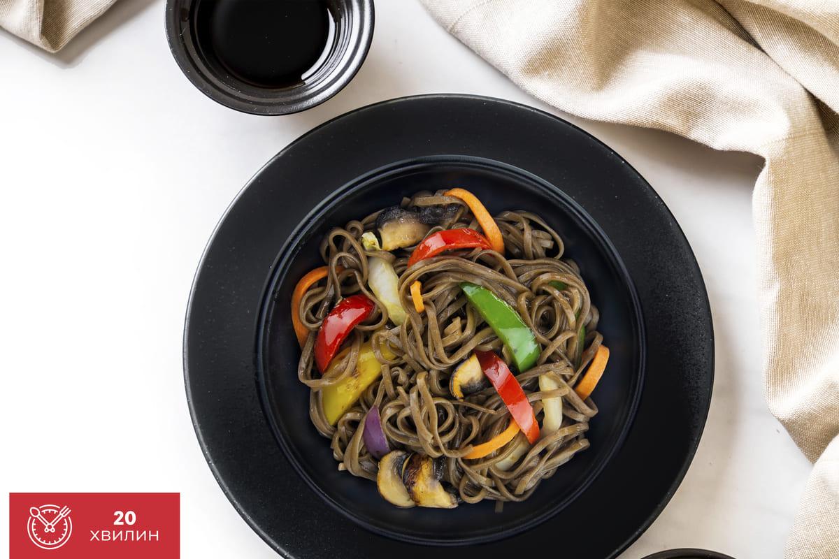 Рецепт соби з овочами
