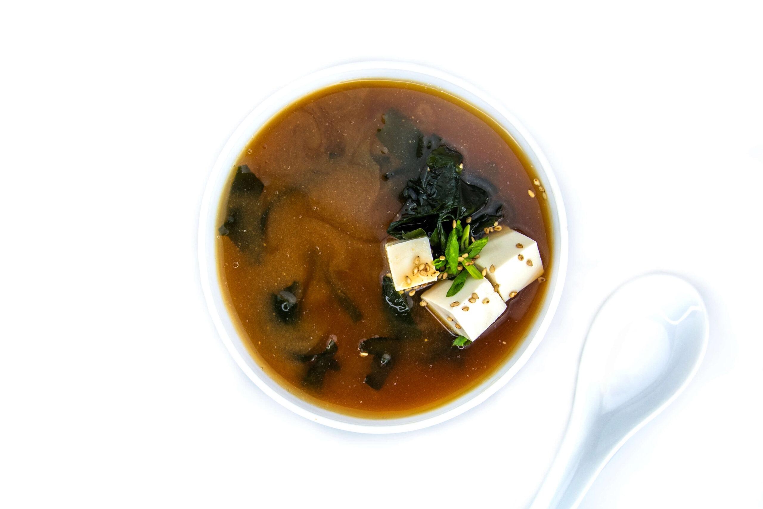 Рецепт мисо супа с соевым сыром тофу