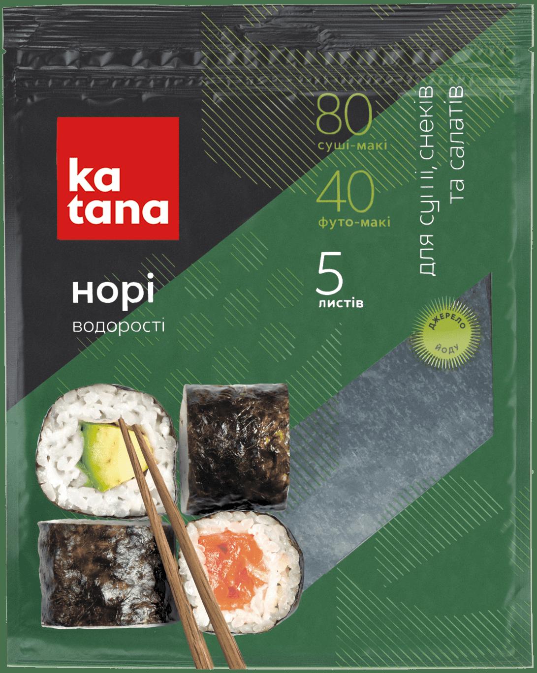 водоросли нори katana 5 листов