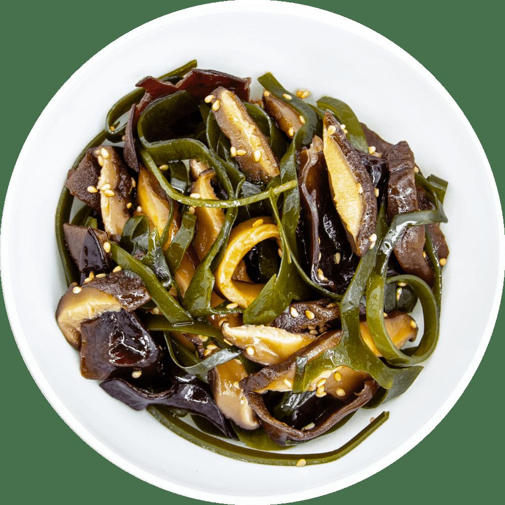 Салат з морською капустою і грибами