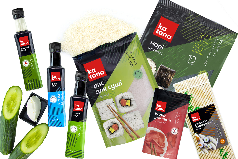 ингредиенты роллов в кунжуте со сливочным сыром и грибами шиитаке