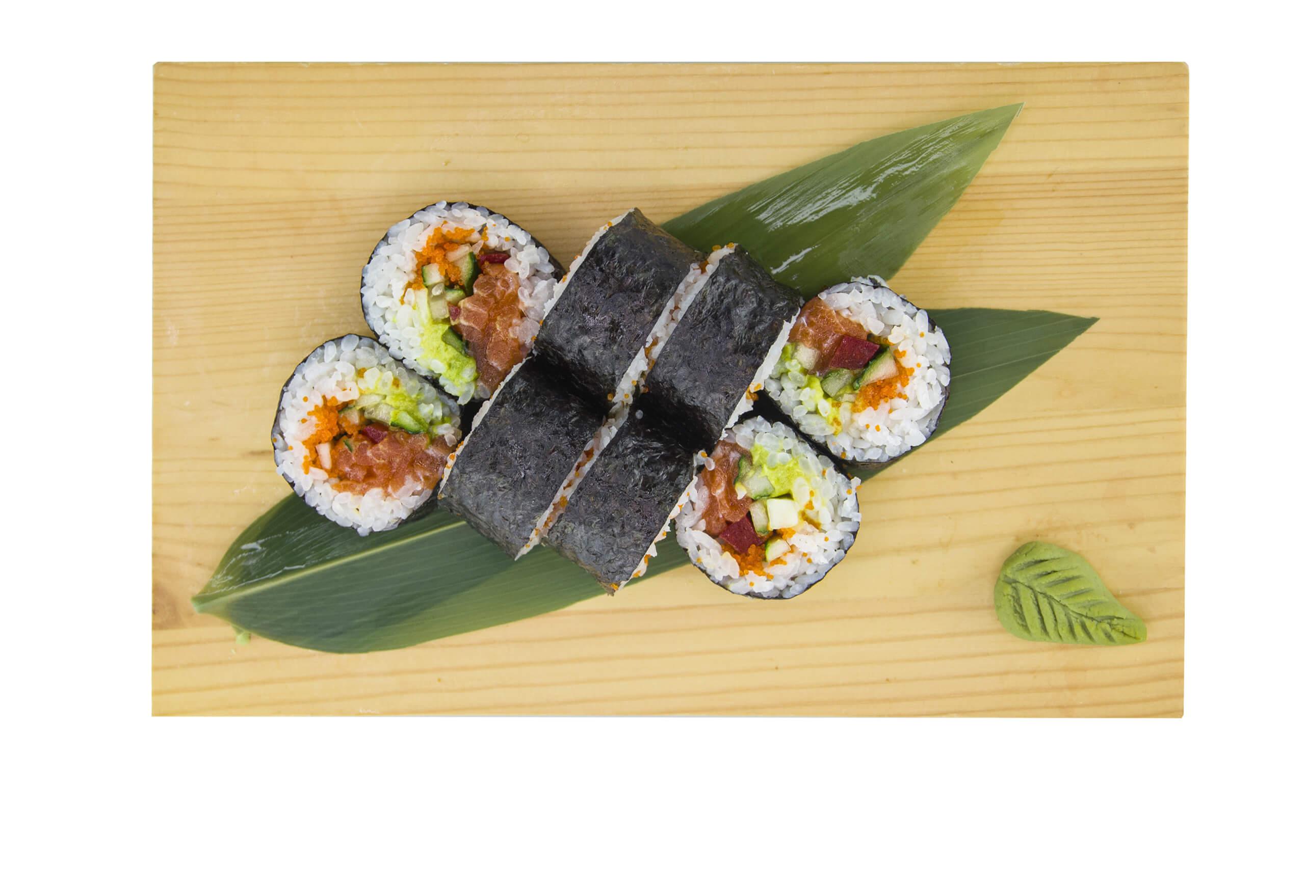 Рецепт ролу футомакі з лососем