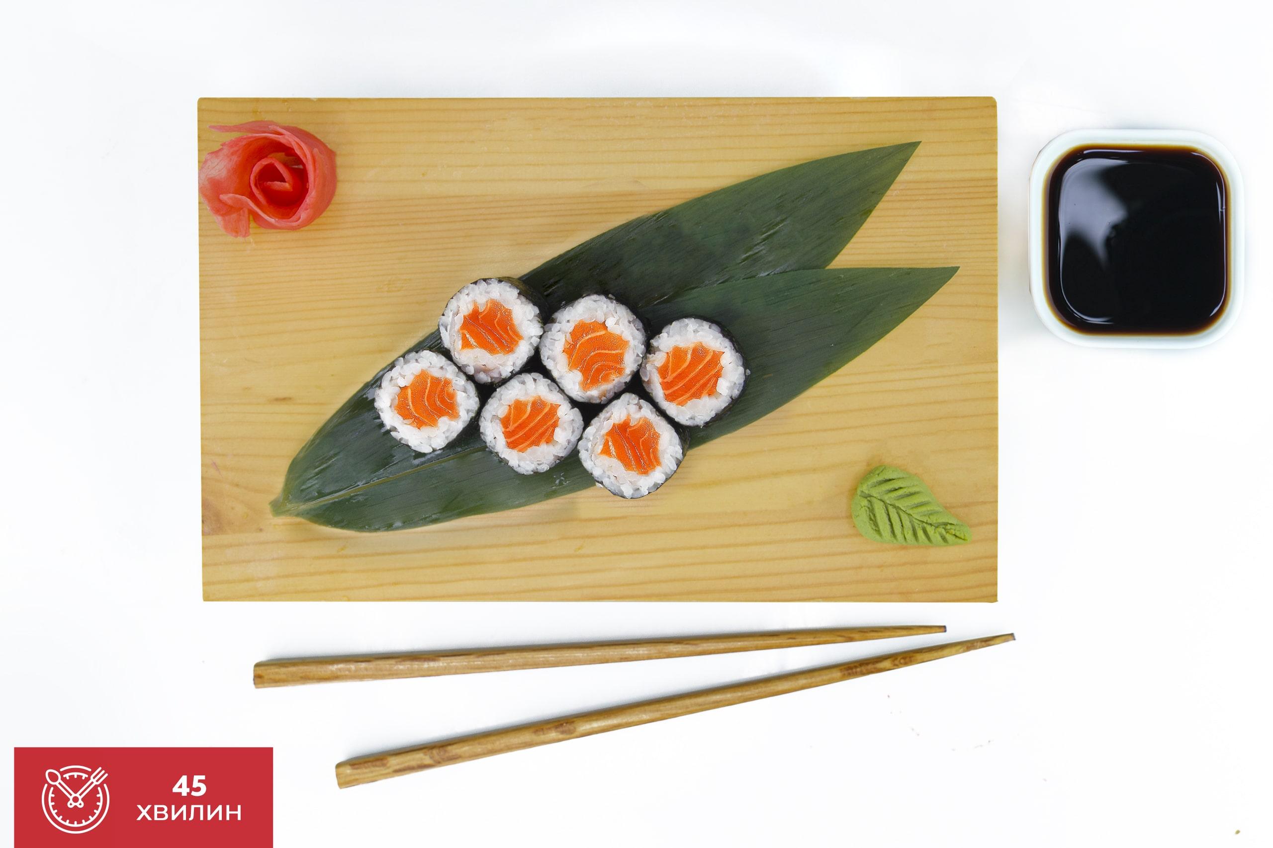 Рецепт маки рол с лососем от Katana