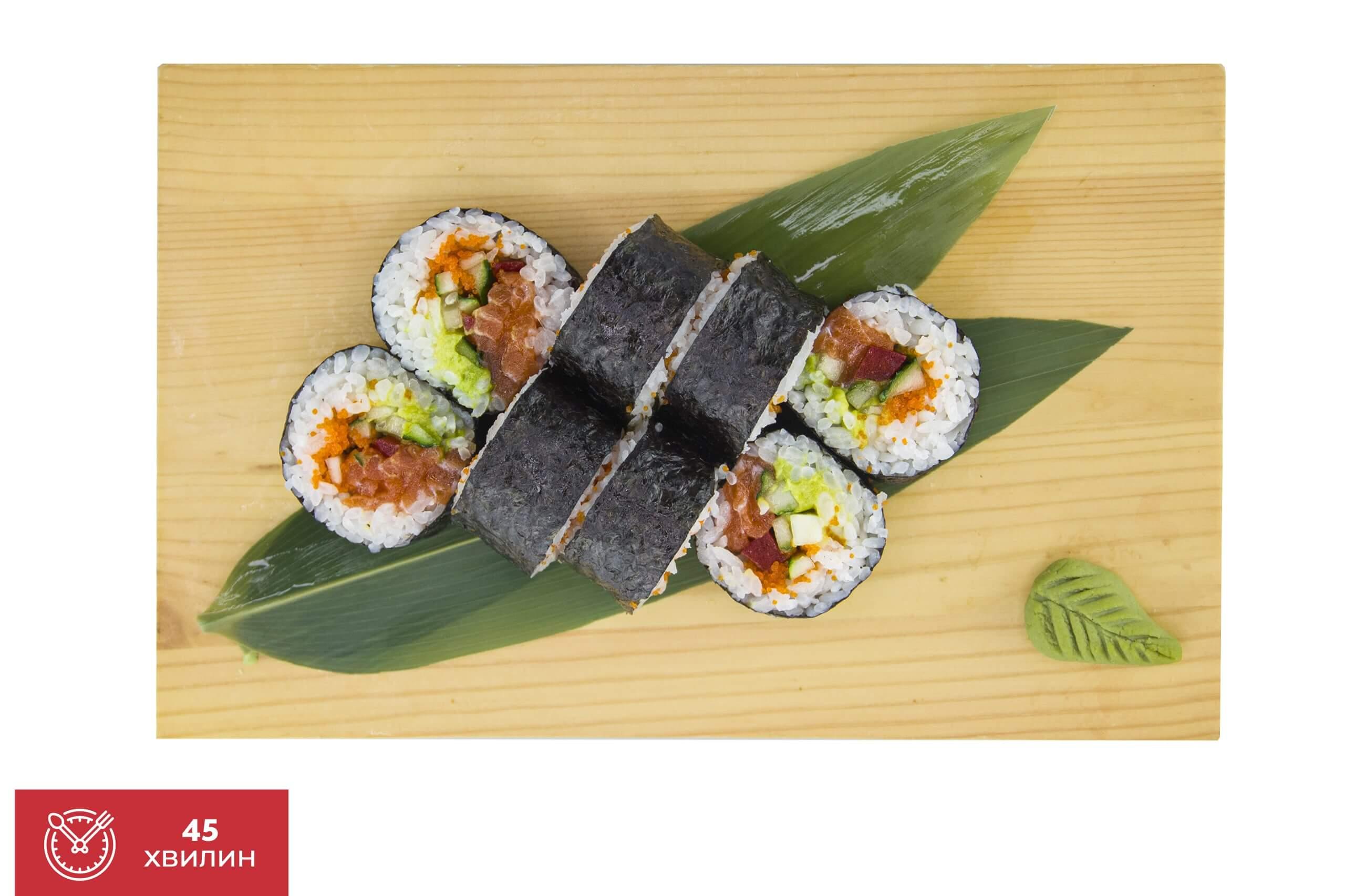 Рецепт футомакі з лососем від Katana