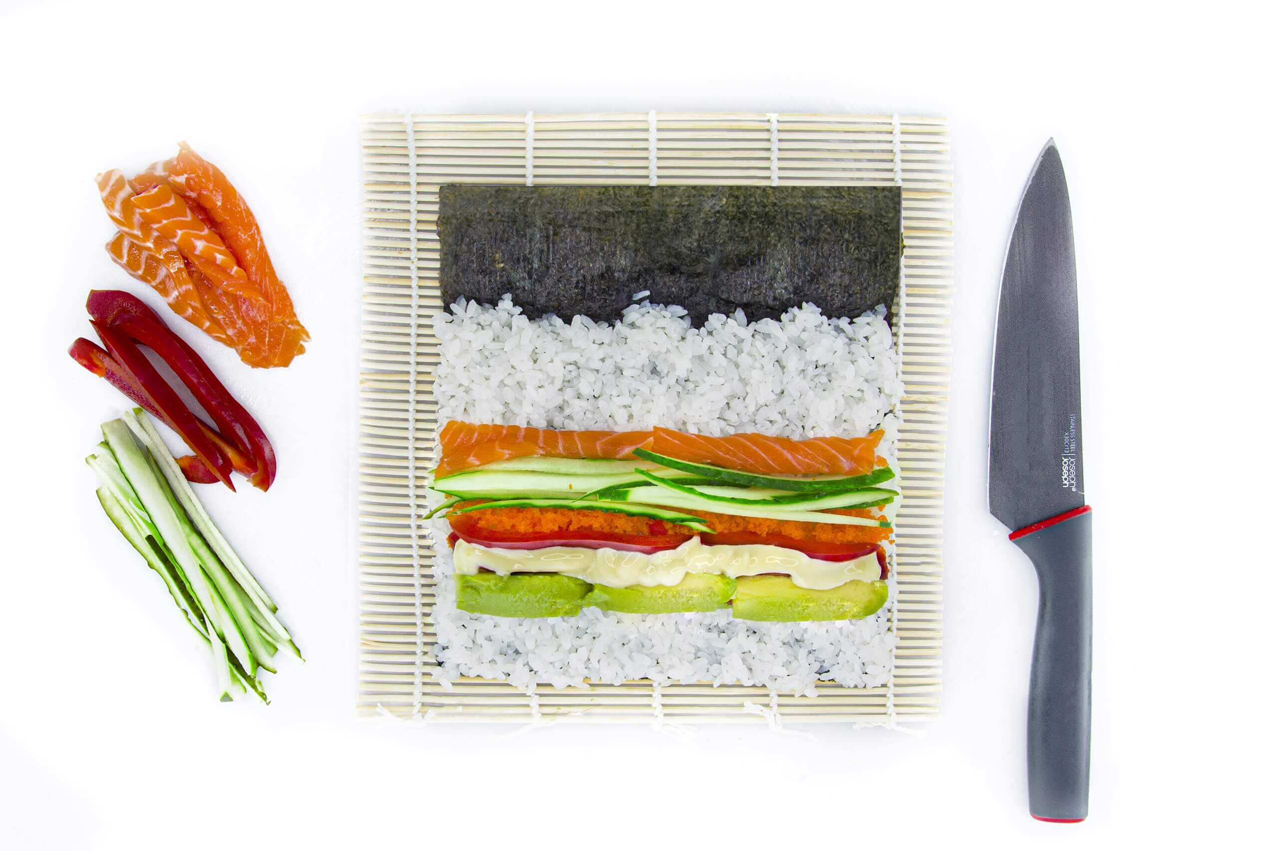 Рецепт футомаки с лососем