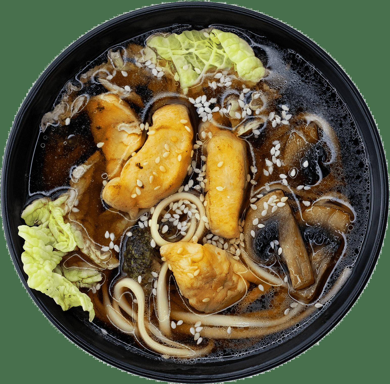 Суп з локшиною удон