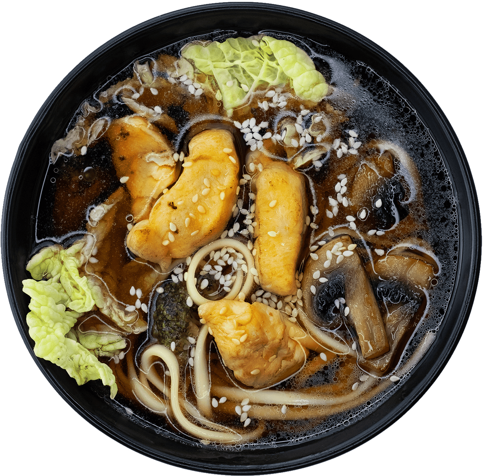 Суп с лапшой удон