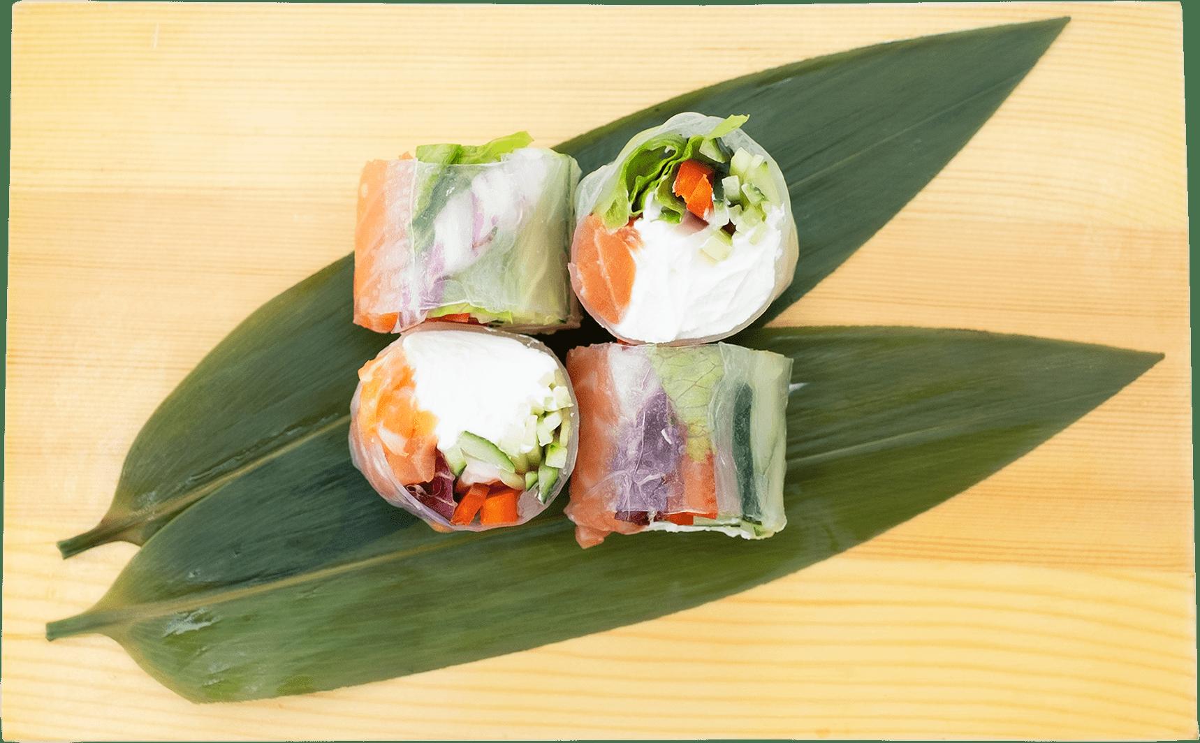 Рецепт ролу з лососем у рисовому папері