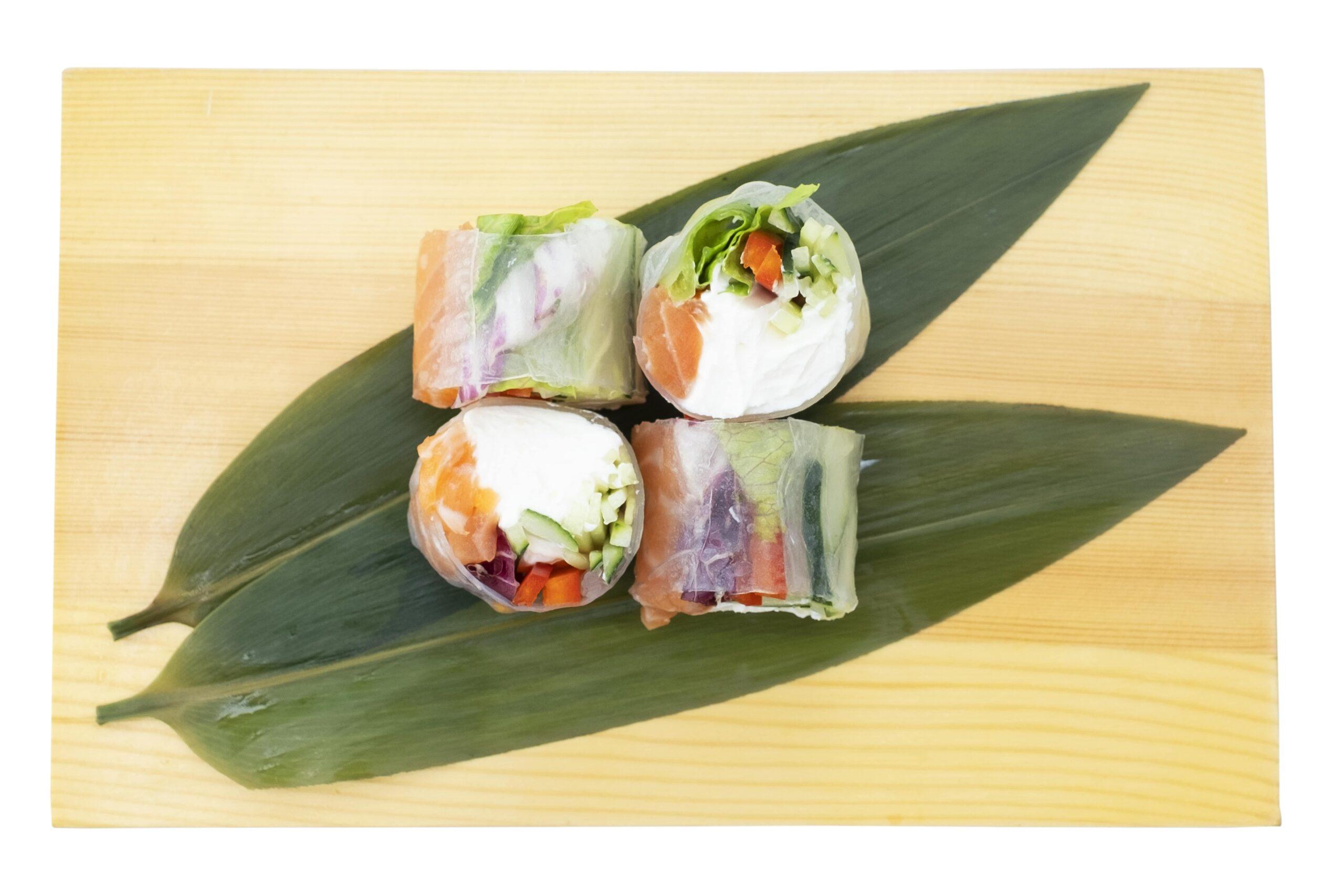 Рецепт ролу з лососем у рисовому папері рецепт Катана