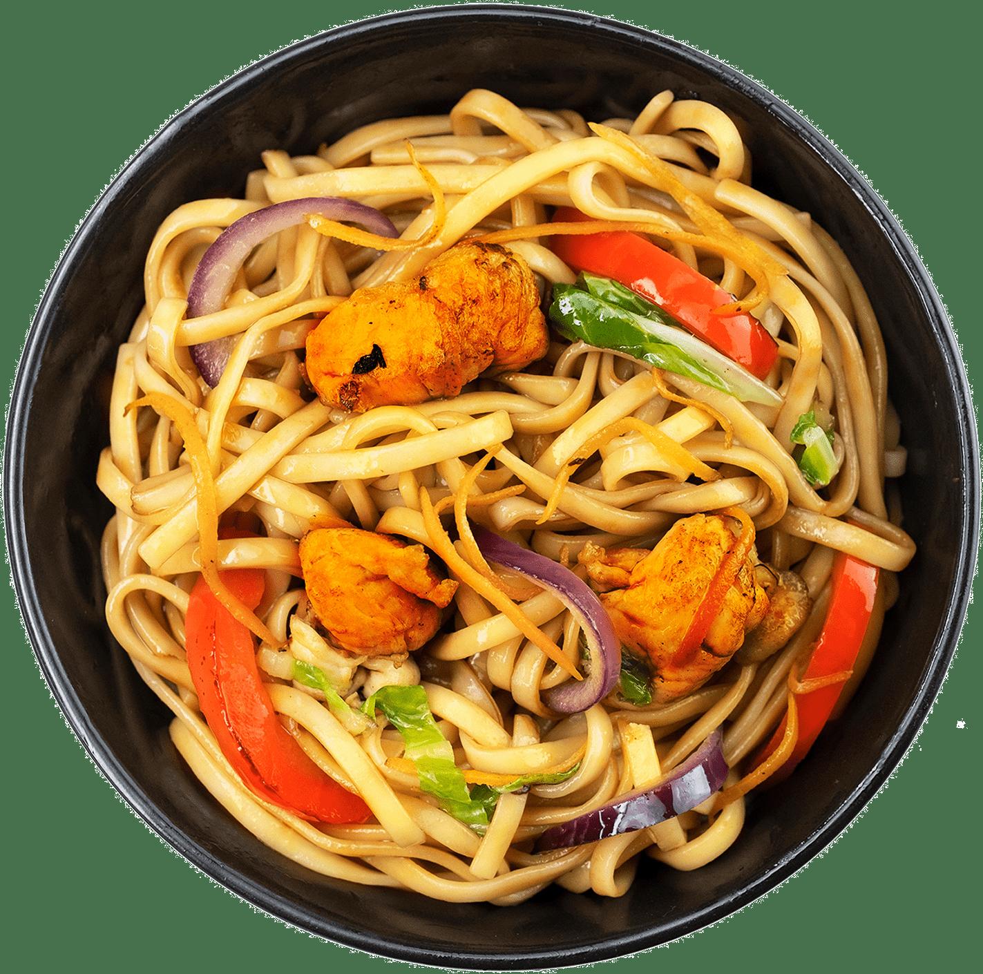 Рецепт локшини Ло-Мейн із куркою та овочами