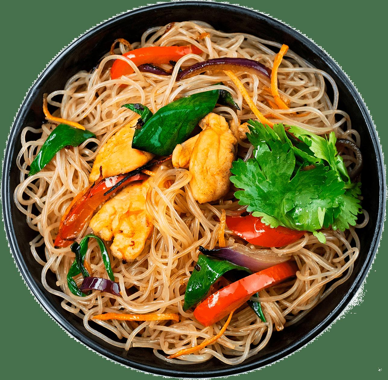 Рецепт сингапурської локшини з куркою