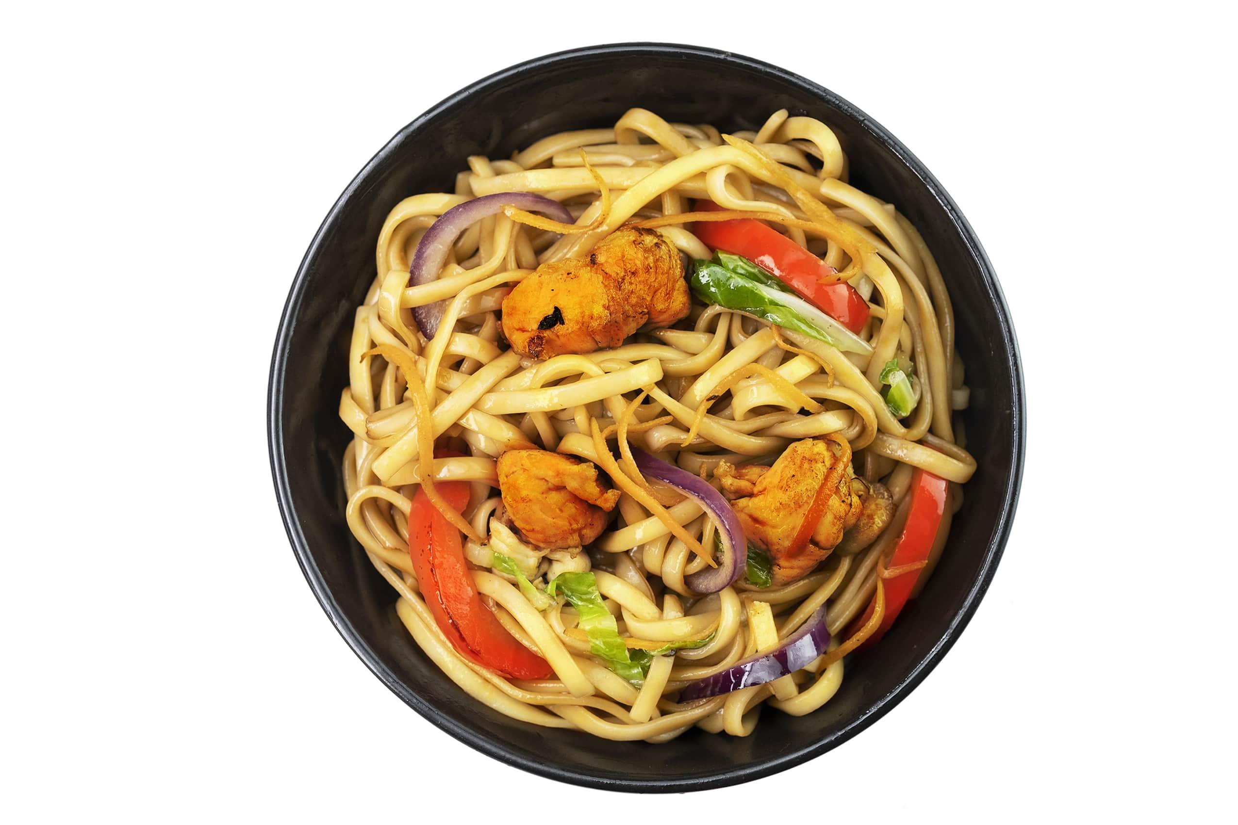 Рецепт лапши Ло-Мейн с курицей и овощами