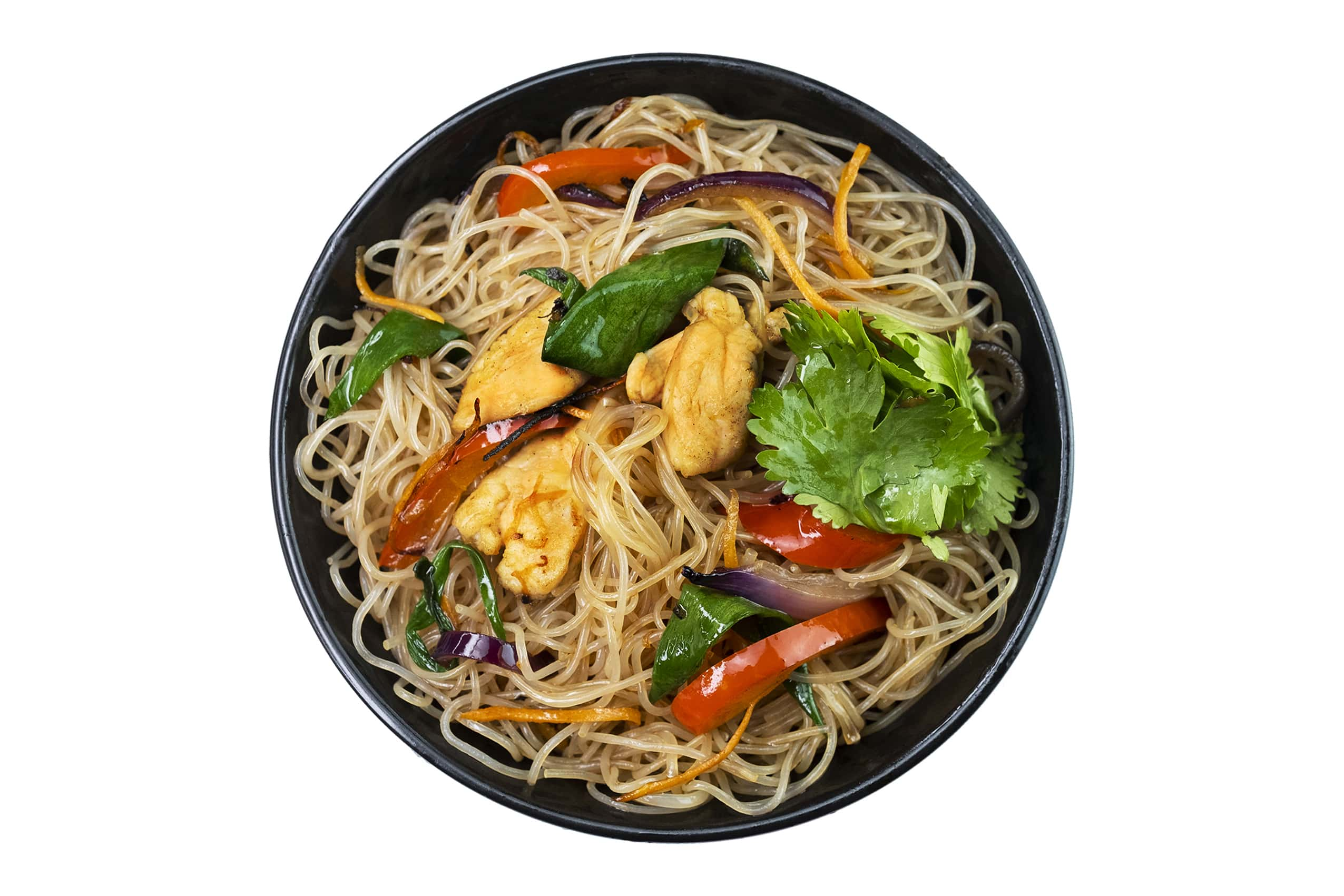 Рецепт сингапурской лапши с курицей