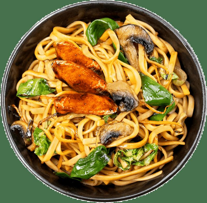 Рецепт локшини чоу мейн з куркою